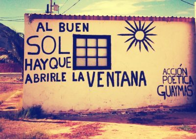 accion poetica al buen sol