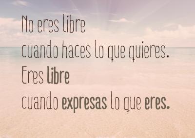 eres libre