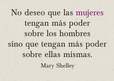 poder femenino Mary Shelley