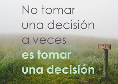 tomar una decision