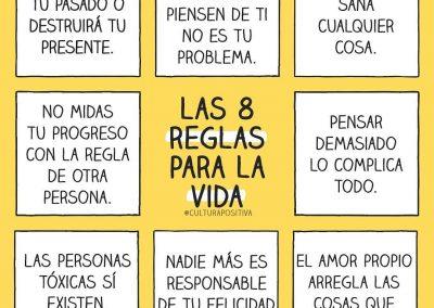 8 reglas para la vida