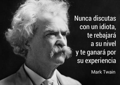 Twain discutir con idiotas