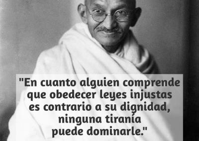 dignidad y tirania Gandhi