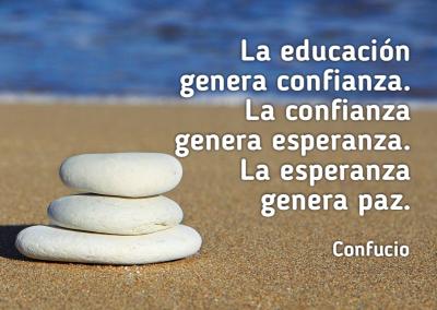 educación genera confianza