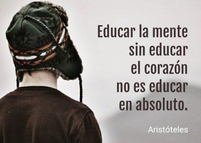 educar la mente sin el corazón