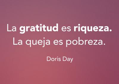 gratitud es riqueza