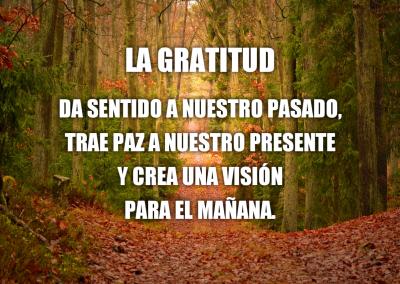 gratitud trae paz